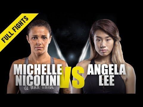 Michelle Nicolini vs. Angela Lee | ONE Full Fight | Strawweight Showdown | July 2019