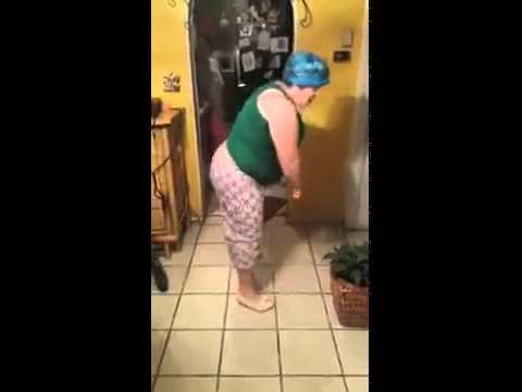Fat asian teen dancing