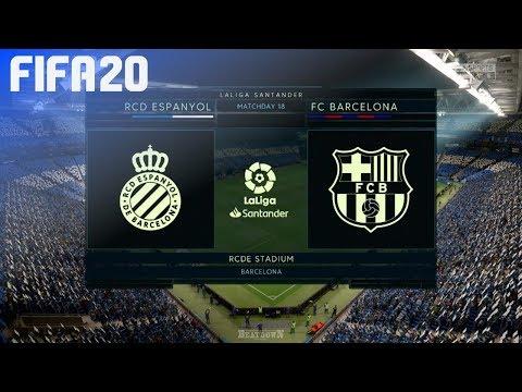 FIFA 20 - RCD Espanyol Vs. FC Barcelona @ RCDE Stadium