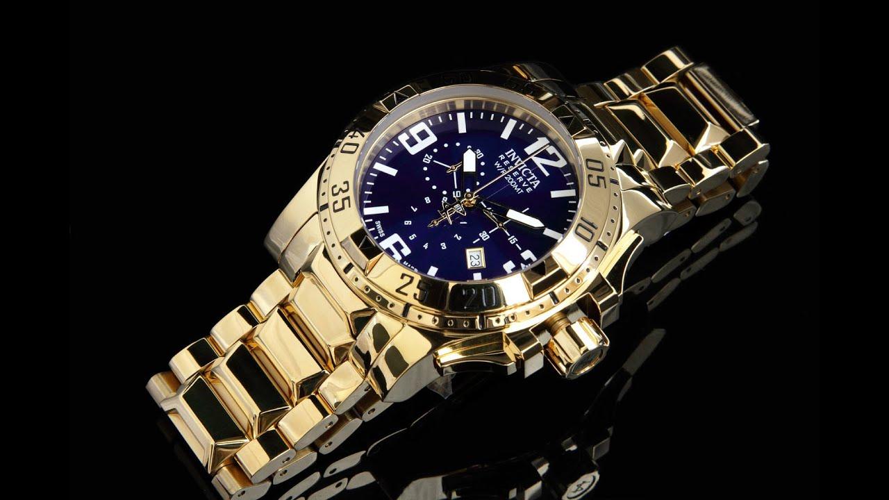 7e44452c304 Invicta 5676 50mm Reserve Excursion Blue Dial Swiss Chronograph Bracelet  Watch