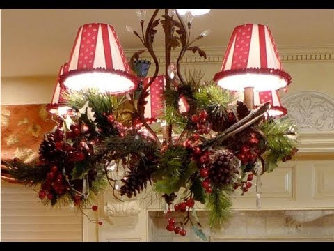 christmas chandelier decoration ideas - How To Decorate A Chandelier For Christmas