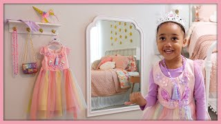 DIY Dress Up Area   Kids Room Decor   MOM VLOG