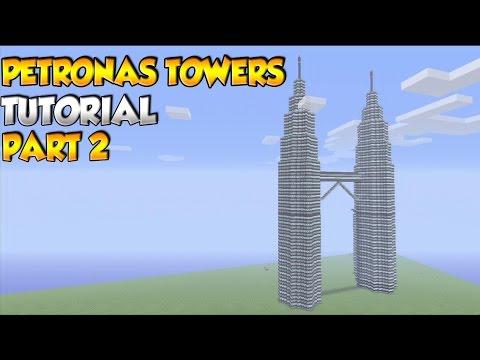 Minecraft Petronas Towers Tutorial PART 2 - XBOX/PS3/PC