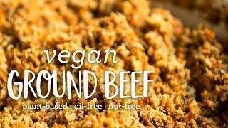 Vegan Ground Beef (vegan  plant-based  oil-free)