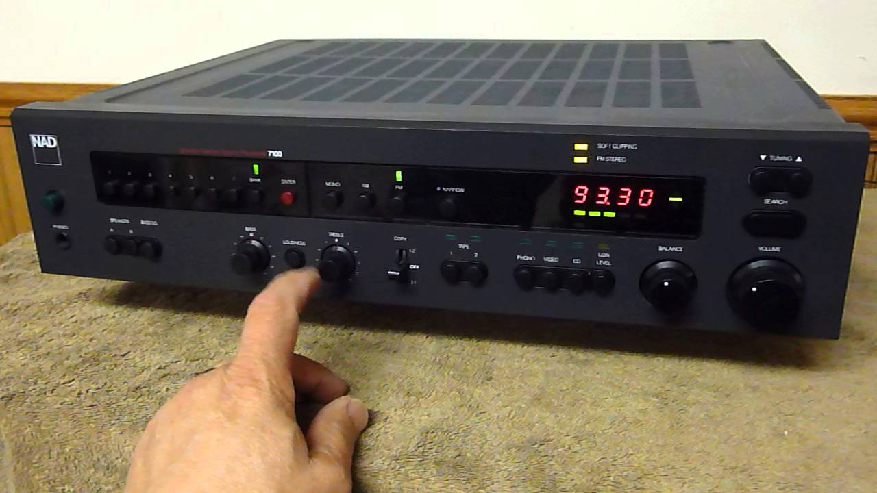 Audrad's NAD 7100 FM/AM Stereo Receiver Performance Run