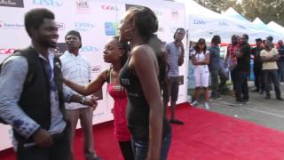 BEVERLY OSU KICKS HER FRIEND ON RED CARPET!