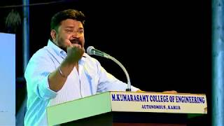 Gambar cover Vijay TV Gopinath Motivational Speech @ MKCE || MKCE || Gopinath || Vijay TV
