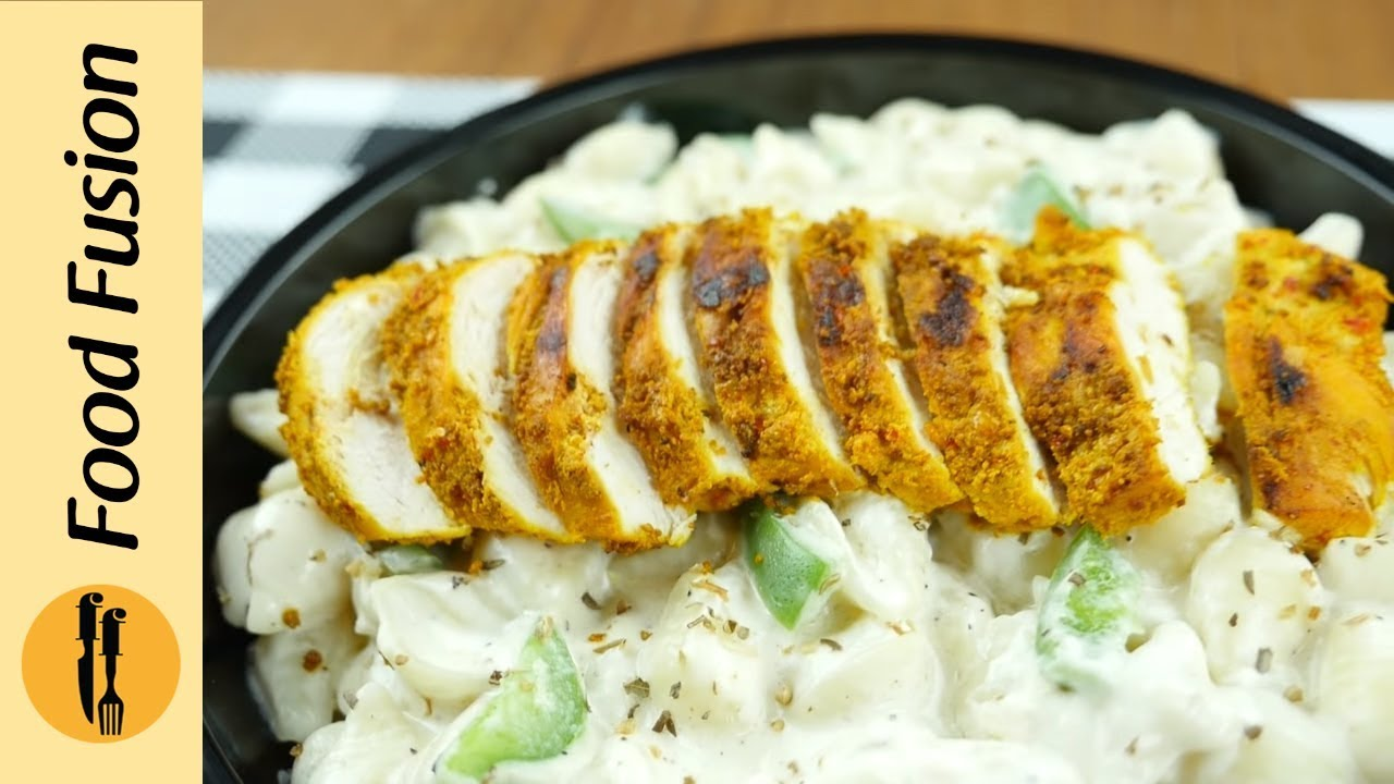 White Pasta With Spicy Koila Chicken And White Sauce Recipe Learn How To Make It From Food Fusion Youtube
