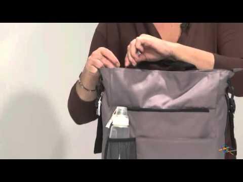 Amy Michelle Lexington Go Bebe Diaper Bag - Charcoal - Product Review Video