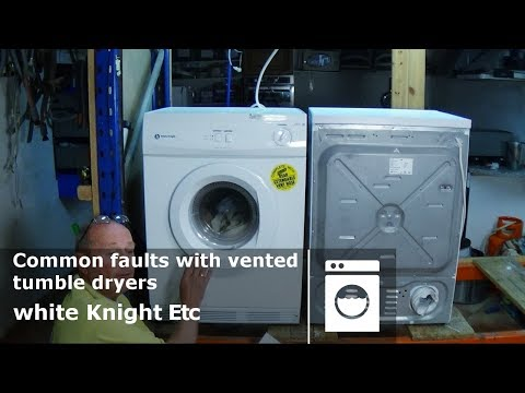 White knight Common faults with vented tumble dryers how to diagnose problems and repair