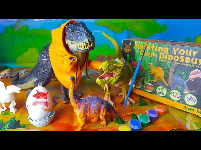 Arex e Vastatore colorano i Dinosauri con le tempere! 🦖🎨