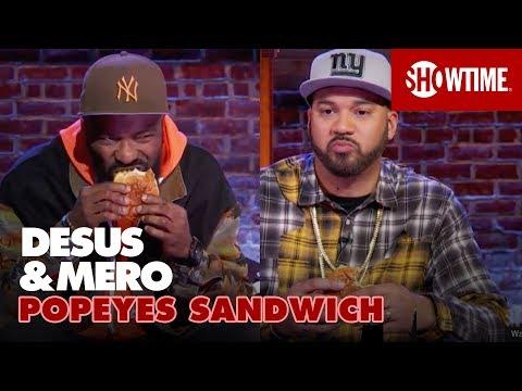 Popeyes Chicken Sandwich vs Chick-fil-A  DESUS & MERO  SHOWTIME