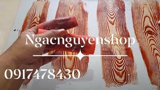 Hướng dẫn cách dùng bộ cọ tạo vân gỗ giá 200k/2 bộ 0917478430