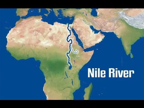 Map Of The Nile River | Egypt
