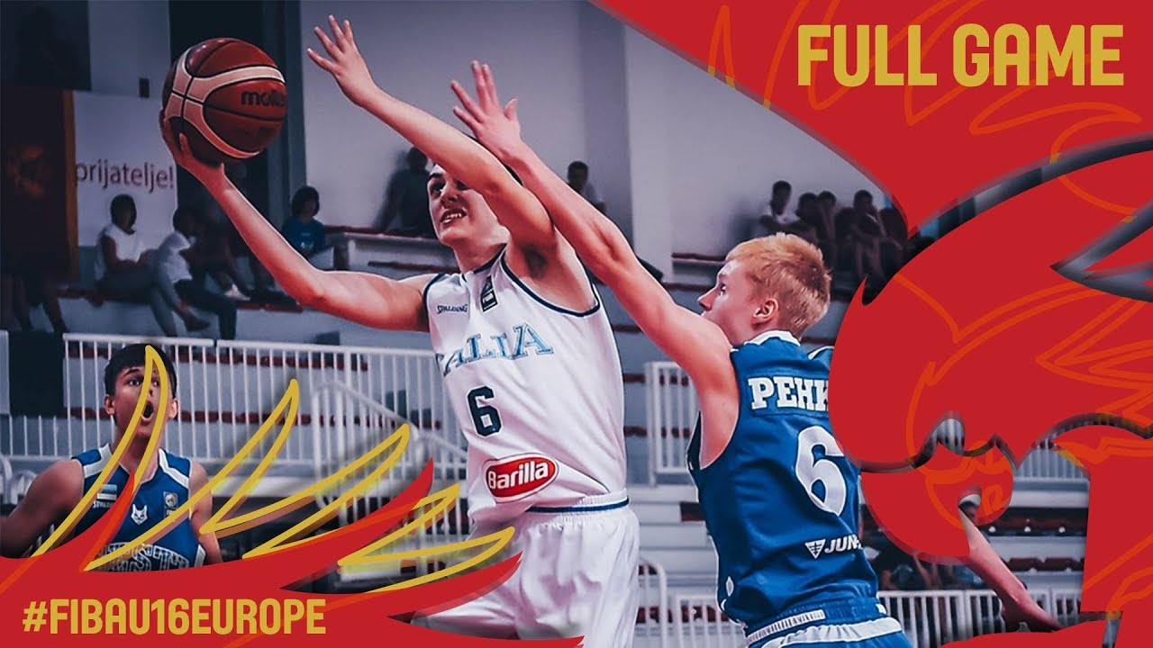 Italy v Estonia - Full Game - Classification 9-12 - FIBA U16 European Championship 2017