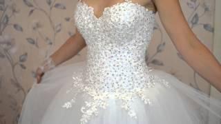 Свадебное платье со стразами, салон