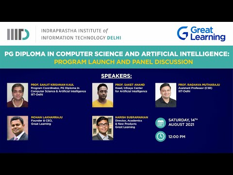 Program Launch and Panel discussion : PG Diploma in Computer Science and Artificial Intelligence