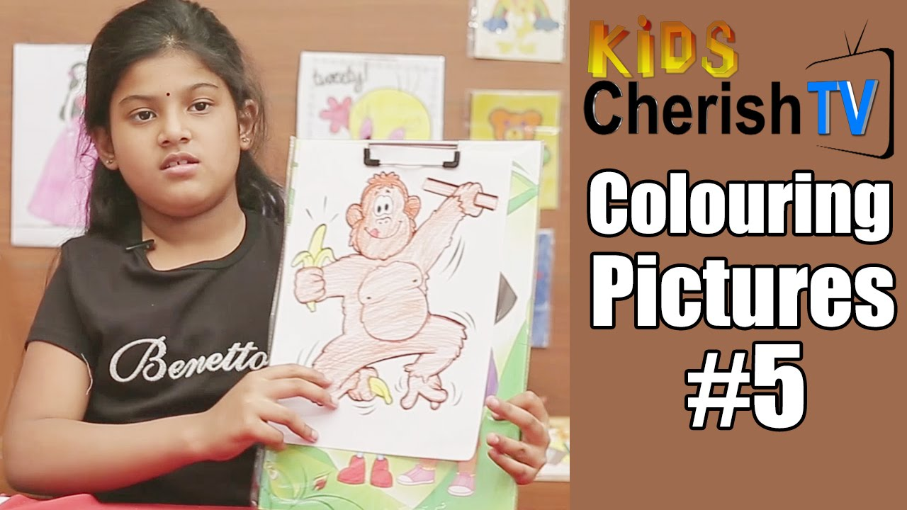 How To Colour a Monkey    Diy   Colouring Pictures #5    Kids ...