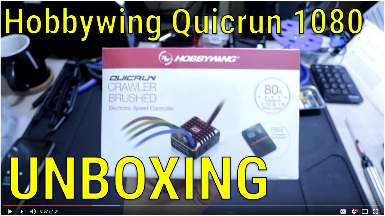 Hobbywing Quicrun WP1080 Brushed Crawler ESC - Unboxing
