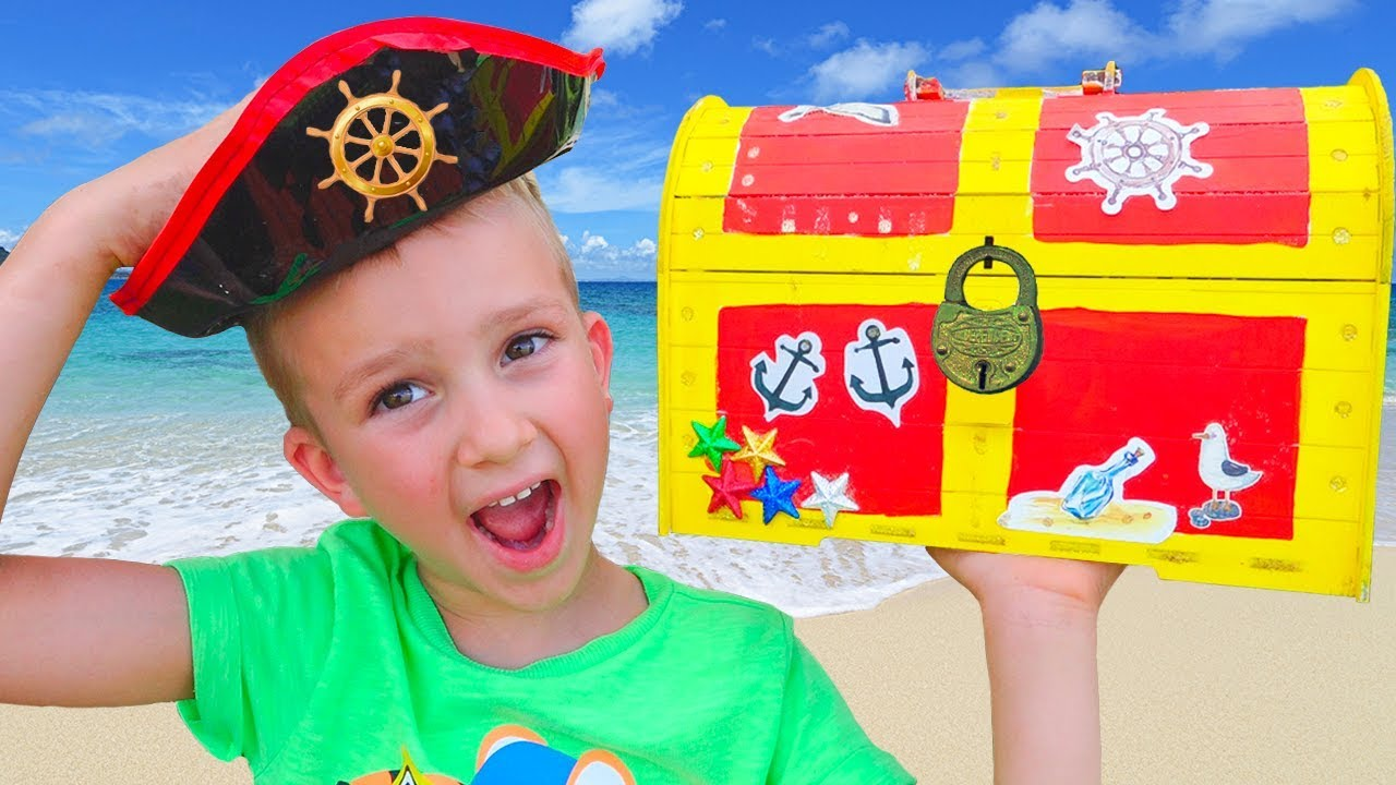 Children Found Toy Pirate Treasures Video for kids from Vlad and Nikita #1