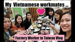 My Vietnamese workmates/Ok ba sila?-Ofw in Taiwan Vlog