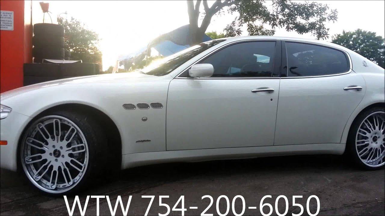 Acewhips Net Wtw Customs White Maserati Quattroporte On