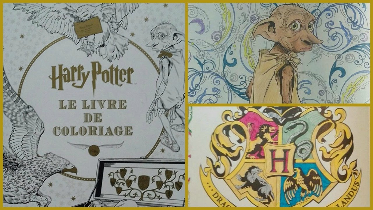 Harry potter le livre de coloriage n 1 youtube - Harry potter dessin ...