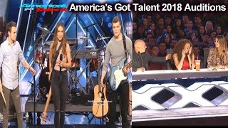 We Three Family Band with MOM song Had Judges Cry America's Got Talent 2018 Auditions S13E01