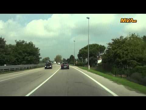 Italy / Italien Fahrt von Lido di Jesolo zum Airport Venezia