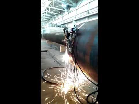 Нарезка фаски на трубу 1420 толщина стенки 23,2 мм