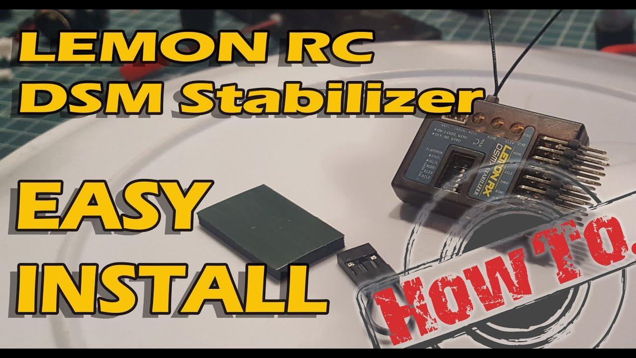 Lemon Rx 7 Channel DSMP//X Stabilizer PLUS Diversity Top Pin Receiver DSMX UK