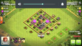 Clash of Clans: 200 Goblins attack results in 3 STARS ***
