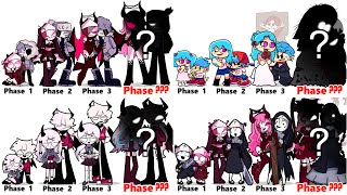 FNF Comparison Battle -ALL Phases Of Fnf Characters Friday Night Funkin Animation COMPLETEED T ON1