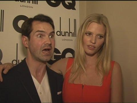 Lara Stone Discusses Husband David Walliams' Thames Swim