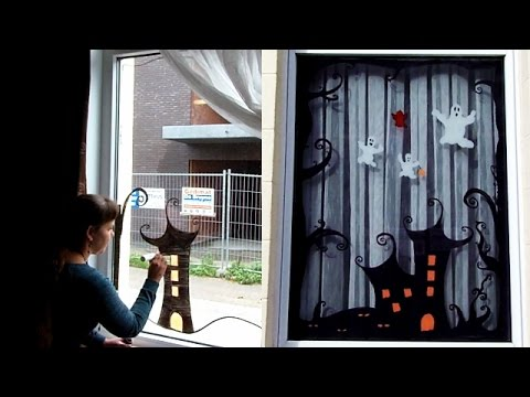 Halloween windows How To & Review Chalk Markers