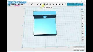 Bilgisayar Destekli Tasarım Ünitesi Perspektif çizimi 123d design