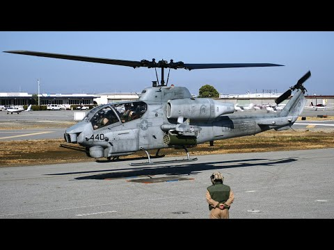 AH-1W Super Cobra lands at San Carlos Airport HeliFest 2011