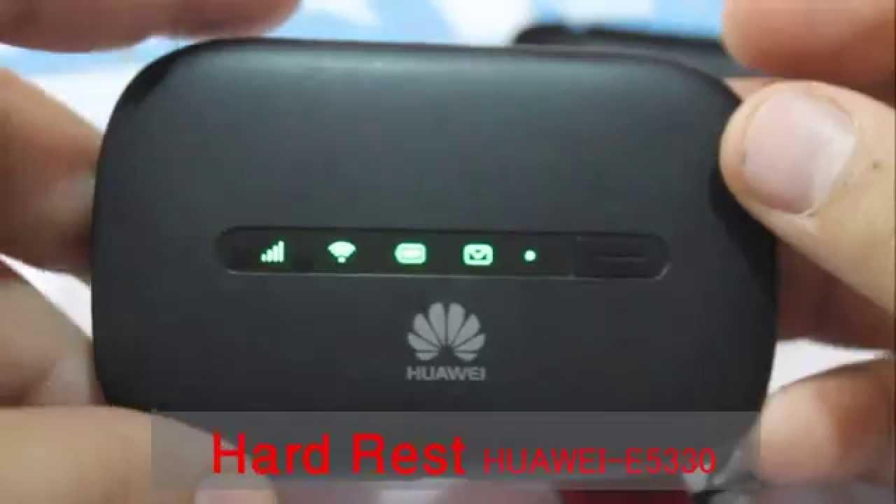 Huawei E5330طريقة عمل هارد ريست لجهاز الواي فاي المحمول Youtube