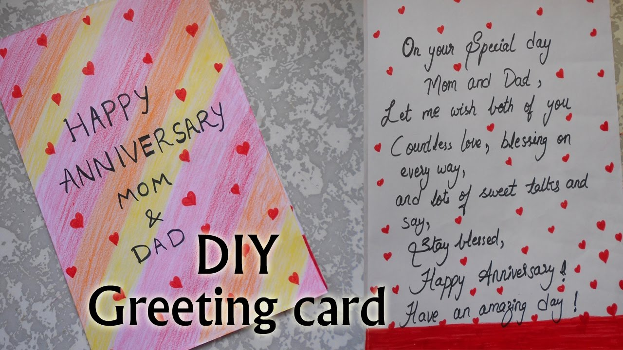 How I Made Happy Anniversary Greeting Card Very Simple Diy