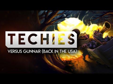 DOTA 2-- TECHIES Versus Gunnar (Back In The USA)