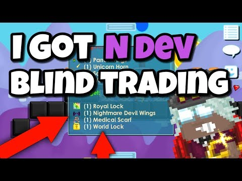 I GOT N DEV FROM BLIND TRADING| Growtopia