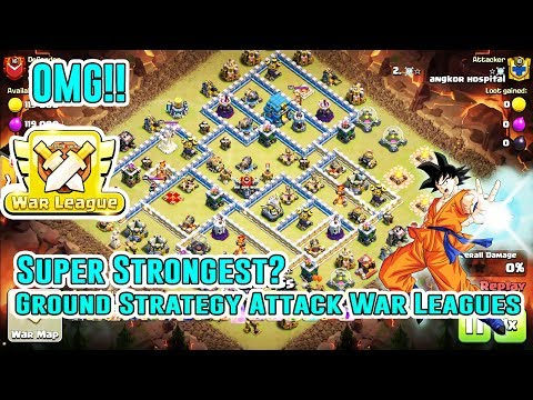 OMG!! SUPER STRONGEST ATTACK GROUND STRATEGY IN WAR LEAGUES 3-STAR  TH12 ( Clash of Clans )