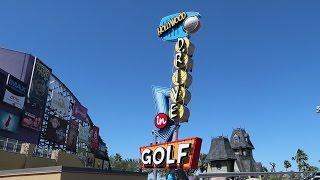 Playing Mini Golf At Universal Orlando CityWalk   Hollywood Drive In Mini Golf