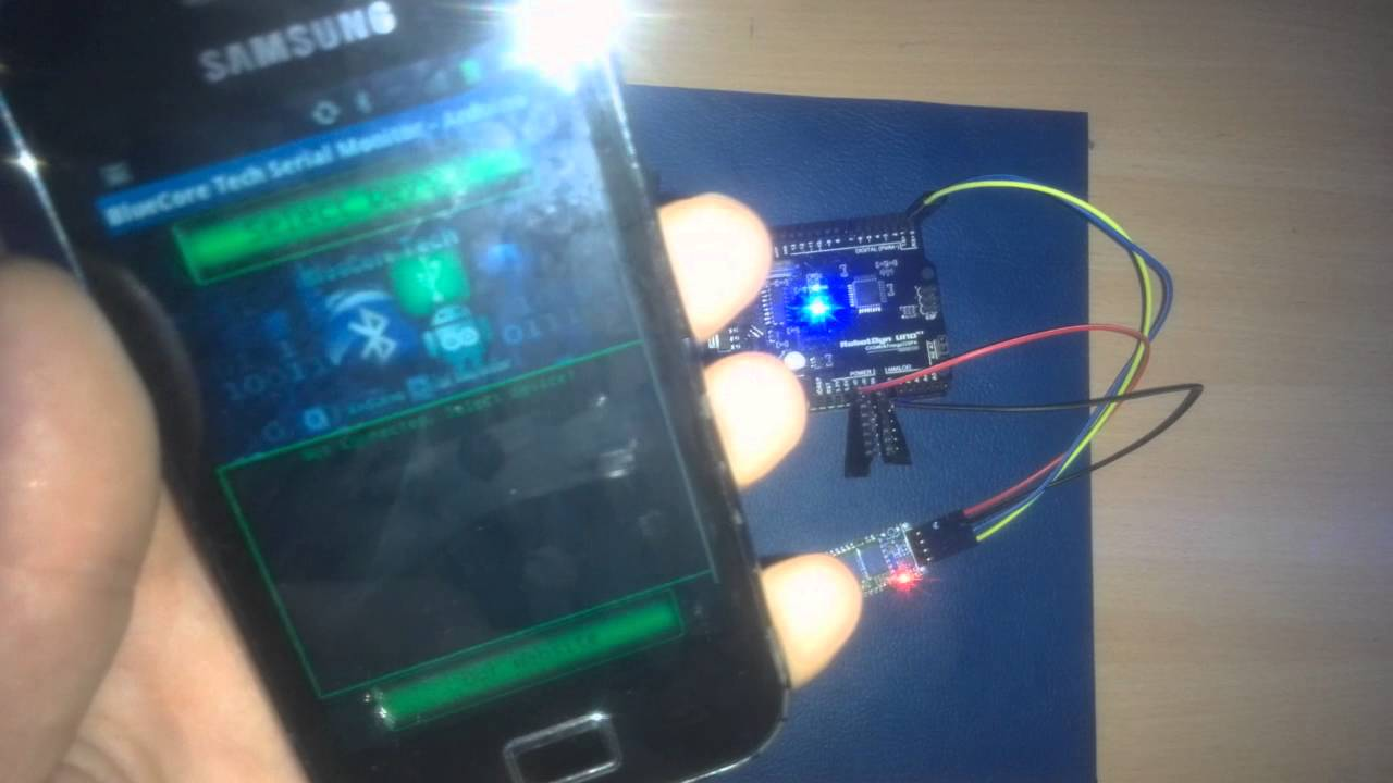 Arduino/Android BLUETOOTH Serial Monitor APP for Arduino Using the