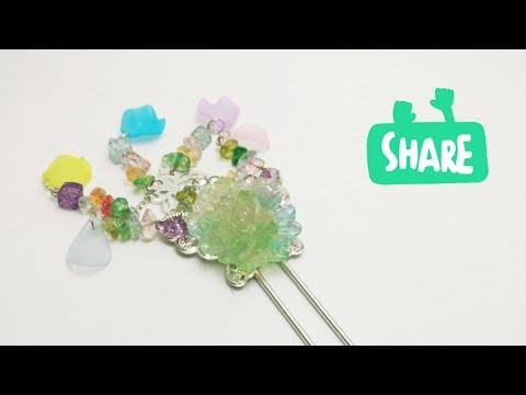 Diy Tutorial – Chinese Hair Accessories Flowers Dream Hair Stick Hair Pins