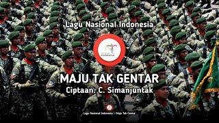 Gambar cover Maju Tak Gentar - Lirik Lagu Nasional Indonesia