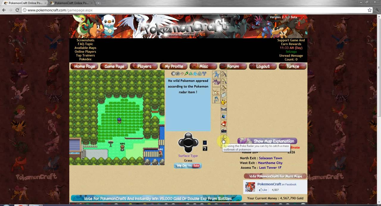 Part 3 Free To Play Fanmade Online Browser Based MMORPG Pokemon Game  PokemonCraft Tutorial Guide