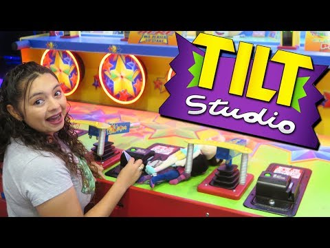 Our first time at Tilt Studio Arcade!