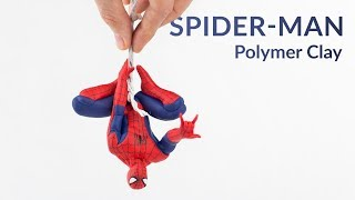 Hanging Spider-Man (Marvel) – Polymer Clay Tutorial