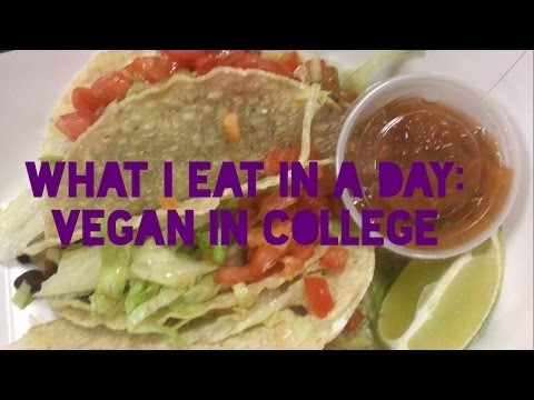 WHAT I EAT IN A DAY (VEGAN) | Vegan In College